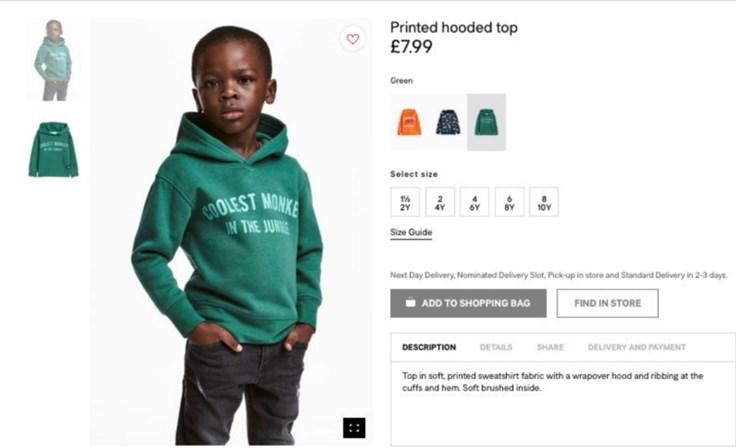H&M veste camisola com palavra