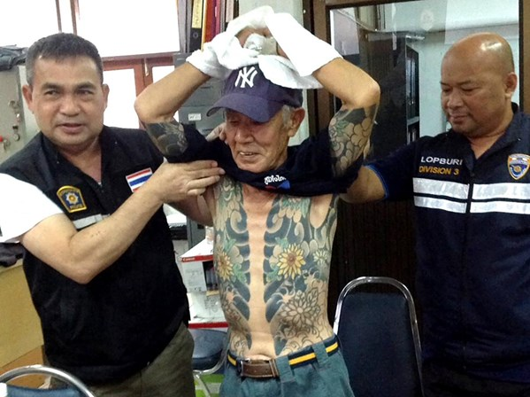 Chefe criminoso japonês apanhado por mostrar tatuagens a jogar damas