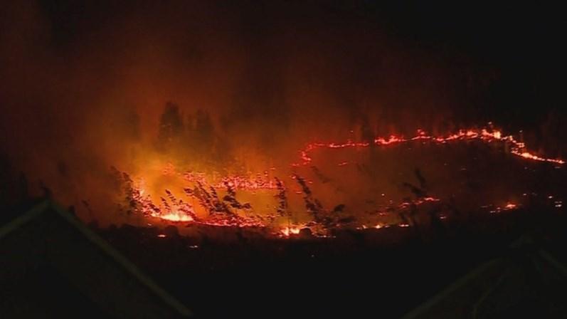 Dominado fogo florestal que lavrou durante a noite em Brito e Vermil